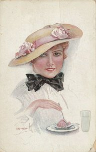 USABOL ; Woman eating Ice Cream , 00-10s