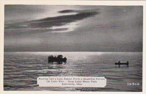 Boating At Sunset On Lake Erie Near Lake Shore Park Ashtabula Ohio Dexter Press