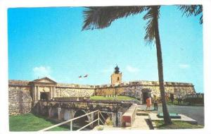 Main Entrance Castillo de San Felipe, El Morro, San Juan, Pueto Rico, 40-60s