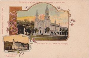 Canada Ste Anne de Beaupre The Basilica Of Good St Ann and The Old Church