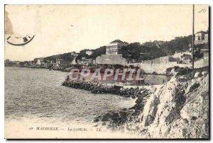 Postcard Old Marseille Corniche