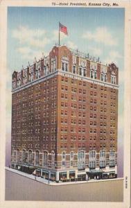 Missouri Kansas City Hotel President Curteich