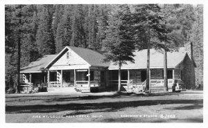 RPPC FIRE MOUNTAIN LODGE Mill Creek, CA Vintage Eastman's ca 1950s Postcard