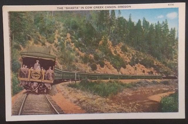 The Shasta in Cow Creek Canon, Oregon, Pacific Novelty Co. 6270