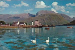 Scotland Ben Nevis From Entrance To Caledonian Canal At Corpach