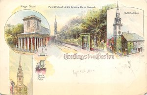 Greetings from Boston Boston, Mass., USA Postcard Unused