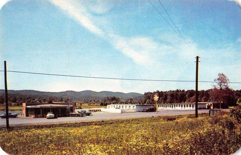 Irondale Alabama birds eye view Southwind Motel & Restaurant vintage pc ZD549965