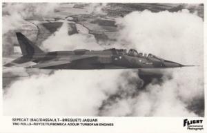 Sepecat Dassault IBAC Jaguar Rolls Royce Turbofan Engine Military Plane Postcard