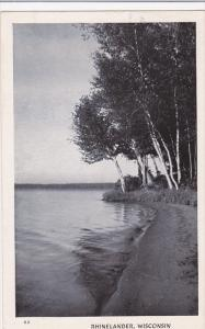 Scenic Waterfront View, Rhinelander, Wisconsin 1945