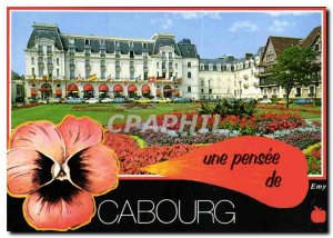 Postcard Moderne Cabourg Calvados Les Jardins du Casino and the Grand Hotel