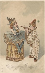 NEW YEAR ; Perrot Clown couple , 1907