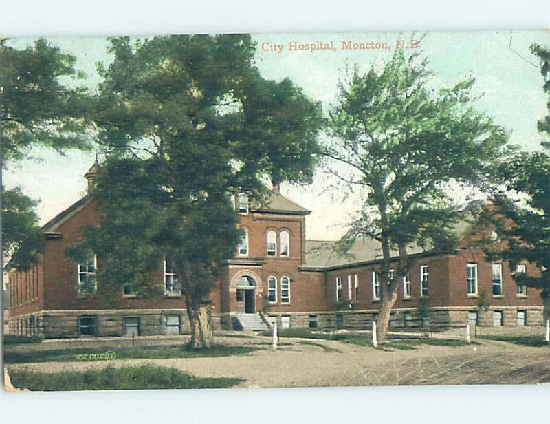 Divided-Back HOSPITAL SCENE Moncton New Brunswick NB W3256