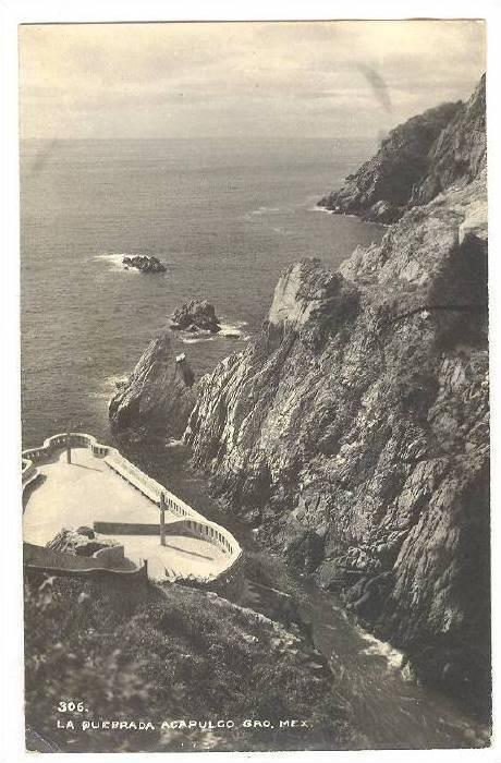 RP, La Quebrada, Acapulco, Gro., Mexico, 1930-1950s