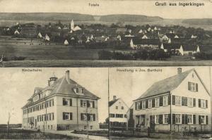 germany, INGERKINGEN, Schemmerhofen, Kinderheim, Handlung v. Jos. Barthold 1910