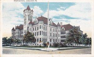 CHESTER, Pennsylvania, PU-1923; High School