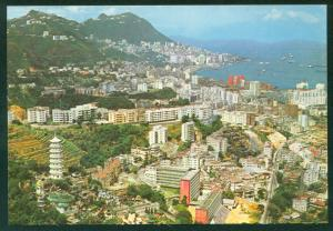 High View Overlooking Tiger Balm Garden Victoria City Hong Kong Postcard