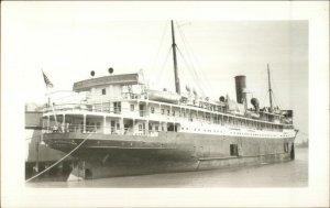 Steamship SS George Washington Easterm SS Co Real Photo Postcard 1950s-60s