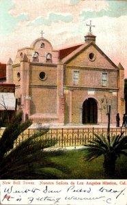 California Nuestra Senora da Los Angeles Mission New Bell Tower 1908