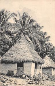 D34/ Taboga Island Panama Foreign Postcard Native Huts Trees c1910