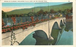Shelburne Falls Massachusetts~Mohawk Trail~Bridge Of Flowers~1934 Postcard
