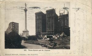 Union Square and St. Francis Richard Behrendt Publisher Postcard 1906