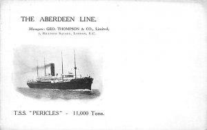 TSS Pericles Aberdeen Line Ship Unused