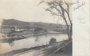 RP: NORTH THETFORD, Vermont, 1900-1910's ; Church & Conn. River