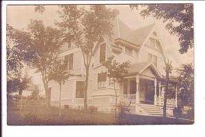 Real Photo, Large House, AZO 1907-1910