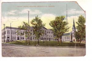 Court House Square, Brockville, Ontario, Split Ring Cancel Coborn, Ontario