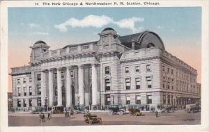 Illinois Chicago The New Chicago & Northwestern Rail Road Station