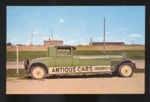 MURDO SOUTH DAKOTA PIONEER AUTO CAR MUSEUM VINTAGE ADVERTISING POSTCARD