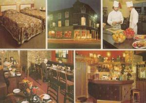 Chefs Making Food at the Punch Bowl Hotel York Postcard