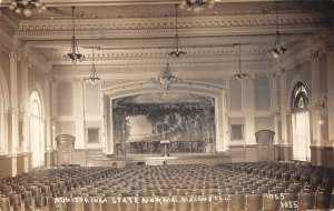 Macomb Illinois State Normal School Auditorium Real Photo Postcard AA18488