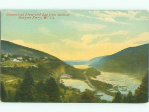 Divided-back RIVER SCENE Harpers Ferry West Virginia WV AE6670