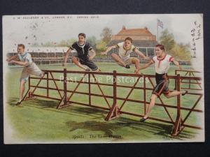 Athlete Theme THE LAST HURDLE after G.D.R. Rowlandson c1904 by C.W Faulkner 327D
