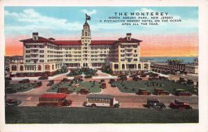 The Monterey Hotel, Asbury Park, New Jersey, Early Postcard, Unused