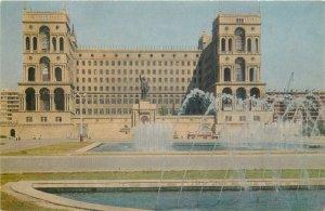 Postcard Azerbaijan BAKU government house Rudnev Munz Kariagdy