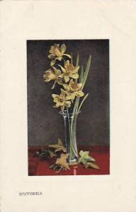 Daffodils in glass vase, 10-20s