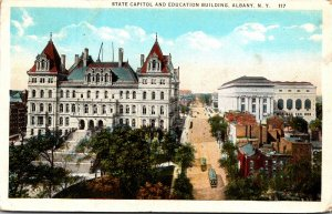 New York Albany The State Capitol and Education Building Curteich