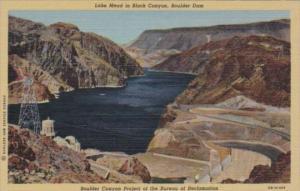 Nevada Lake Mead In Black Canyon Boulder Dam