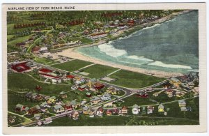 Airplane View Of York Beach, Maine
