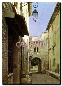 Postcard Modern French Riviera St. Paul a Village Street