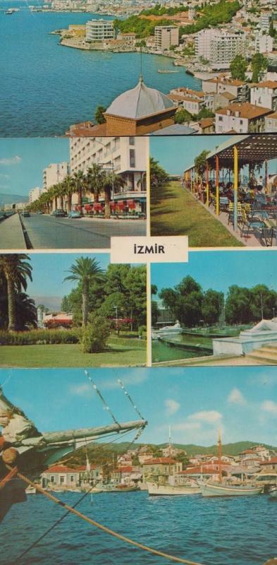 Izmir Marmaris 3x Harbour Turkish Turkey Postcard