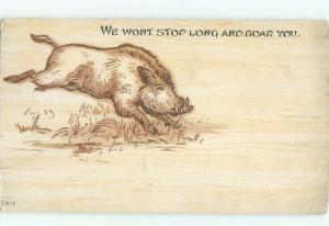Pre-Linen WILD BOAR HOG RUNNING AC5813