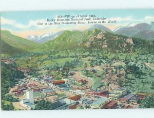 Linen PANORAMIC VIEW Estes Park - Near Denver Colorado CO i1334
