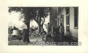 Cement Workers Real Photo Unused