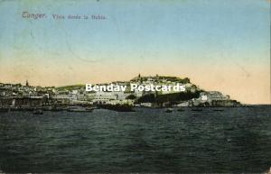 morocco, TANGER TANGIER, Vista desde la Bahia (1913)