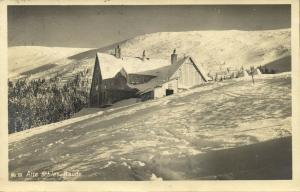 poland, Alte Schles. Baude, Riesengebirge (1926) Bahnpost Zug 1398