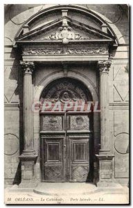 Orleans - Side Door - The Cathedral - Old Postcard