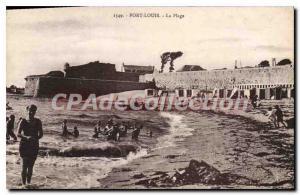 Postcard Old Port Louis The Beach